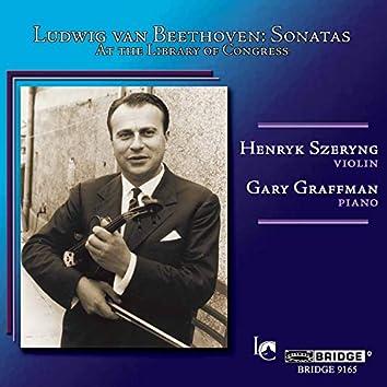 Beethoven: Violin Sonatas Nos. 1, 3 & 9 (Live)