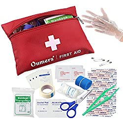 A very small first aid kit with just the bare essentials