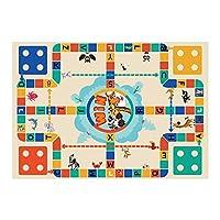 子供の赤ちゃんの敷物フランネルカーペットのおもちゃ英語の英数字の学習ゲーム柔らかい床の子供たちの這う遊び子供のカーペット 60X180CM D60