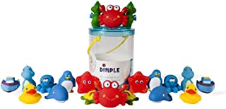 Set of 20 Floating Bath Toys, Sea Animals Squirter Toys for Boys and Girls, Assorted Sea Animals Friends, Squeeze to Spray...