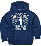 Edward Sinclair This What an Awesome 1 Year Old Looks Like Navy Boys 1st Birthday Hoodie in Size 1-2 Years with A White Print Hoodie