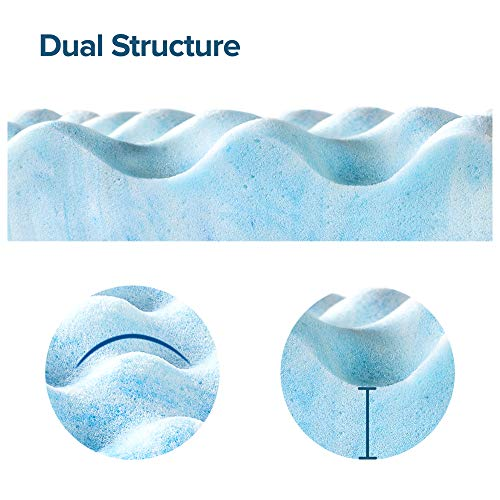 Zinus 1.5 Inch Swirl Gel Memory Foam Air Flow Topper, Twin