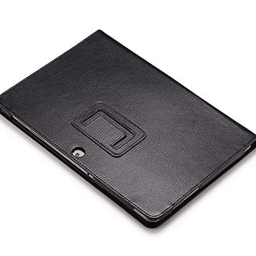 para Samsung Galaxy Tab 2 10.1 P5100 P5110 Tablet Funda de Tableta Litchi Patrón de Cuero PU Stand Folio Folio Cubierta DE Piel-Negro