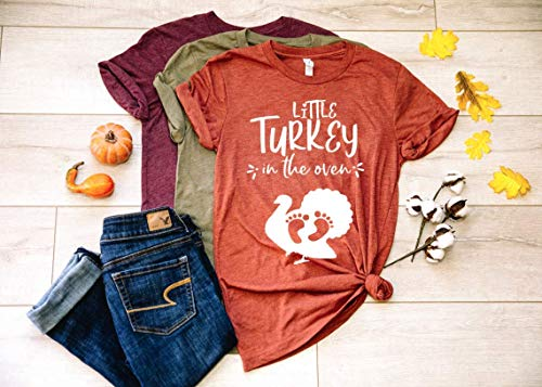 Little Turkey in The Oven Thanksgiving Pregnancy Shirt