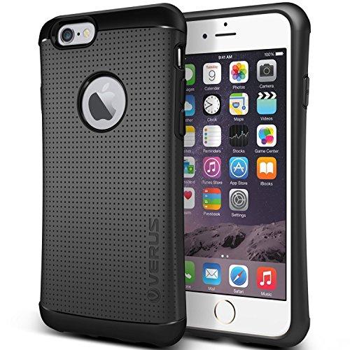Verus [Thor Case Heavy Duty Hard Drop Protection Cover Slim Fit Tough Dual Layer Mesh Dot Design for Apple iPhone 6 Plus / 6s Plus [Charcoal Black]
