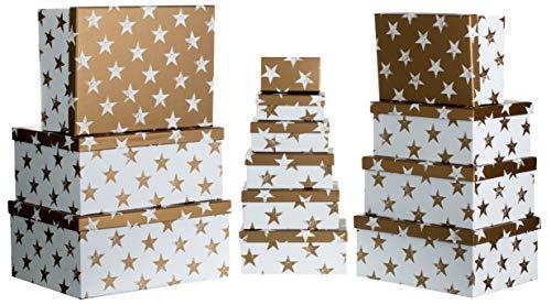 Brandsseller Caja de regalo de cartón con tapa – Caja de