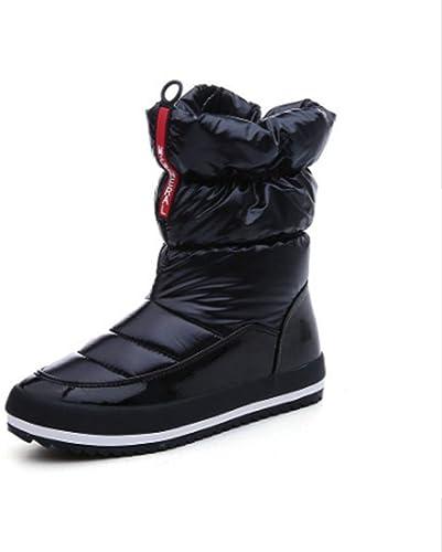 FMWLST botas botas De Nieve para mujer botas De Invierno para mujer Tela Impermeable botas Altas Salvajes Color Sólido