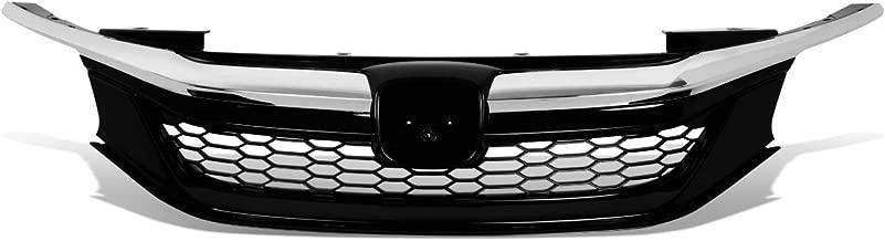 DNA Motoring GRILL-MK-001-CH Honeycomb Mesh Front Bumper Upper Grill Chrome
