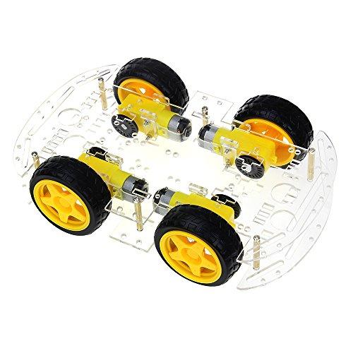 Nrpfell Kit Smart Car Kit 4WD Smart Robot Car Chassis con Encoder di velocità E Battery Box per Arduino Kit DIY