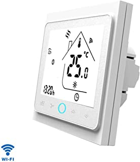 MAYiT Smart WiFi Thermostat Controller, Progammable Gas Boiler Thermostat with LCD Touch Screen for Gas/Water Boiler, for Amazon Echo, for Google Home, for IFTTT APP
