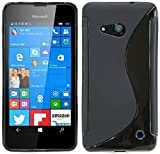 ENERGMiX Silikon Hülle kompatibel mit Microsoft Lumia 550 Schutzhülle Hülle Cover Gel in Schwarz