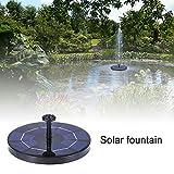 Kitabetty Solarbrunnenpumpe, Freistehendes solarbetriebenes Springbrunnen Pumpenset Solar Gartenbrunnen, Wasserdichtes Solarpanel-Wasserpumpen-Kit, für Pond Pool Garden Aquarium Wasserzirkulation