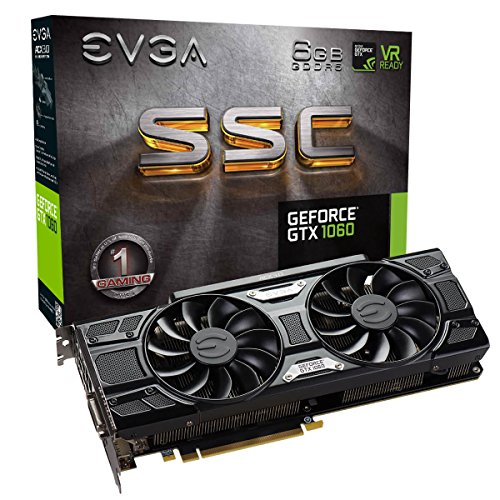 EVGA GeForce GTX 1060 6GB SSC GAMING ACX 3.0, 6GB GDDR5, LED, DX12 OSD Support (PXOC) Grafikkarte 06G-P4-6267-KR