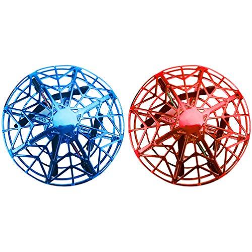 GARNECK 2 Piezas Mini Drone Operado a Mano para Niños Adultos Ovni Juguetes de Bolas Voladoras con Inducción Inteligente Juguete de Bolsillo Hover Juguete Interactivo de Aviones