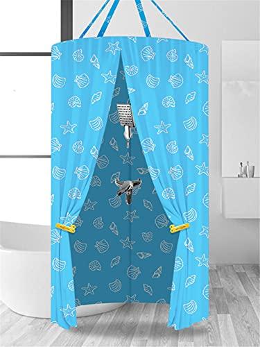 R&er Duschvorhang Badezimmer wasserdichte Kühlhauben Wärmedämmung Hängende R&e Badewanne Konto (Größe: D 100 * H 200 cm)