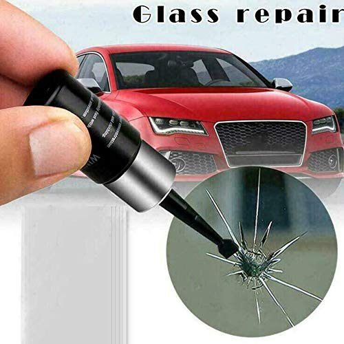 Loriver 2 Set Automotive Glass Nano Repair Fluid Car Window Glass Crack Chip Repair Tool