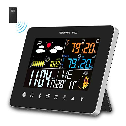 SMARTRO SC62 Wireless Indoor Outdoor Thermometer, Weather Station Color Large...