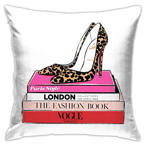 gaogan Fashion Heels Throw Pillow Covers Home Decorative Soft Square Throw Pillow Case for Bed Couch Sofa Farmhouse Cushio.