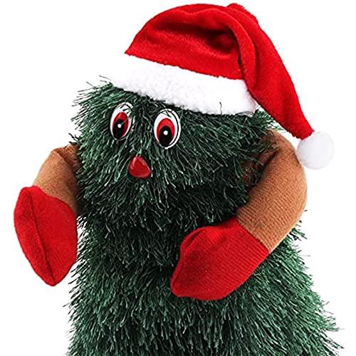 RENSHUYU Cntando Y Bailando Árbol De Navidad, Girar 360 Grados Árbol De Navidad Eléctrico, Juguetes Musicales Divertidos para Vacaciones Año Nuevo Regalo para Niños con Caja De Color