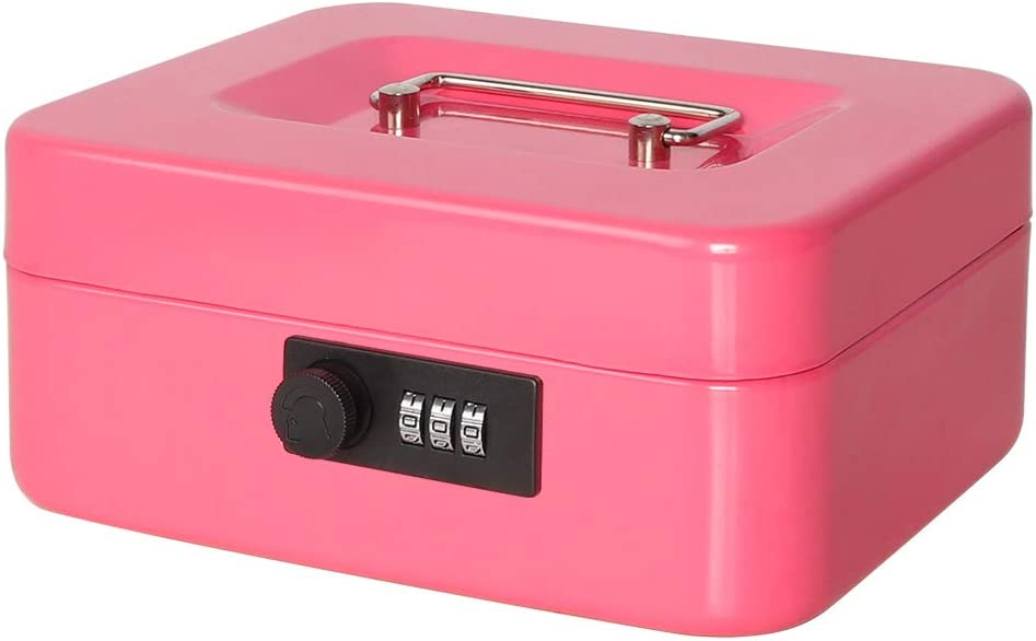 Jssmst Max 69% OFF Small Cash Box with Combination Metal - Lock Popular standard Durable