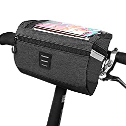 in budget affordable Bicycle Front Handlebar Frame Bag – With a transparent waterproof cell phone bag with a touch screen …