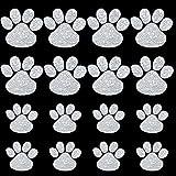 16 Pieces Car Crystal Paw Stickers Car Window...