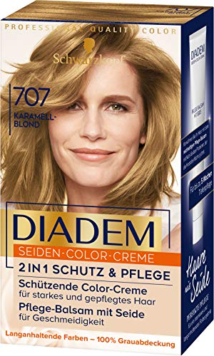 Diadem Seiden-Color-Creme 707 Karamellblond Stufe 3, 3er Pack(3 x 170 ml)