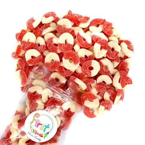 FirstChoiceCandy Gummi Watermelon Light Pink & White Gummy Rings 1 LB