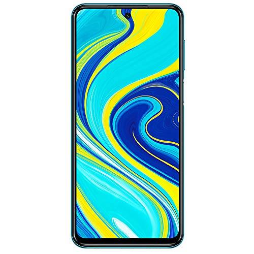 "Xiaomi Redmi Note 9S (64GB,4GB) 6.67"", 48MP Camera, 18W Fast Charge, 5020mAh Battery, Dual SIM GSM Unlocked 4G LTE (T-Mobile, AT&T, Metro, Cricket) International Model (Aurora Blue, SD + Case Bundle)"