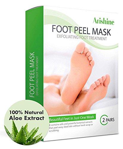 Foot Peel Mask, Exfoliating Foot Mask, Peels Away Calluses and Dead Skin - Get Soft Baby Foot Naturally in 1 Week (2 Pairs)