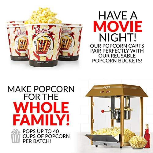 """Product Image 3: Nostalgia Vintage 10-Ounce Professional Popcorn and Concession Cart 
