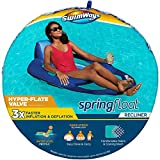 SwimWays Spring Float Recliner Pool Lounge Chair with Hyper-Flate...