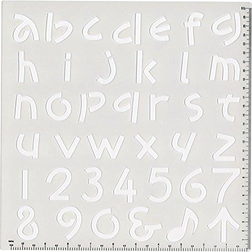 呉竹 アルファベットテンプレート小文字KU208-14