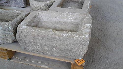 Der Naturstein Garten Alter Trog aus Granit 44 cm lang Brunnen Steintrog - G1263 Granittrog Waschbecken