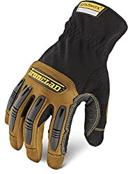 professional Ironclad Ranchworx RWG2 Work Gloves, Premier Leather Work Gloves, Performance Fit, Durability,…