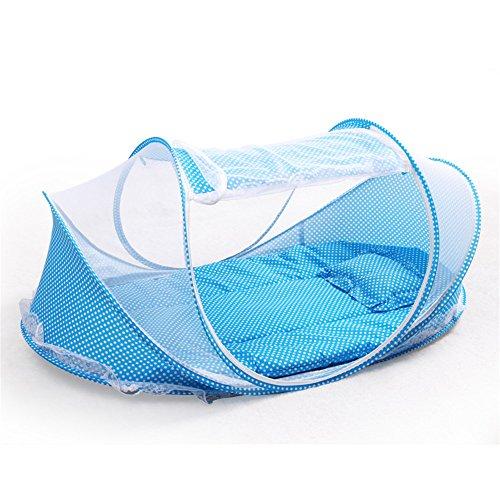 Single Reisebett für Kinder blau/rosa (Blue)