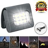 Luces de seguridad LED para corredores de luz estroboscópica de visibilidad para senderismo, camping, bicicleta, reflectante, fuerte clip magnético recargable USB