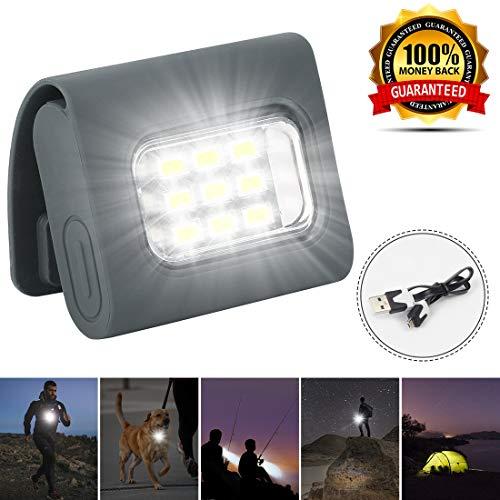 Kiwaly Laufen Joggen Sicherheitslichter, Läufer Laufen in der Nacht und Hunde reiten Wandern Wandern USB wiederaufladbaren starken Magnetclip