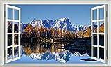 Wandtattoos - 3D -Mont Blanc Magic Window Selbstklebender