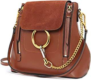 Casual Women's Retro Circular Ring Chain Bag Fashion Nubuck Makeup Pouch For Girls