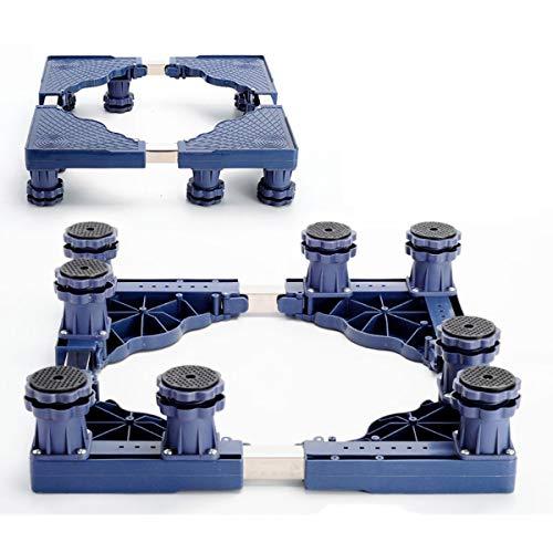 Mfnyp Wasmachine voetstuk basis, badkamer verhoging 4-12 verstelbare steunpoten voor droger, wasmachine en koelkast