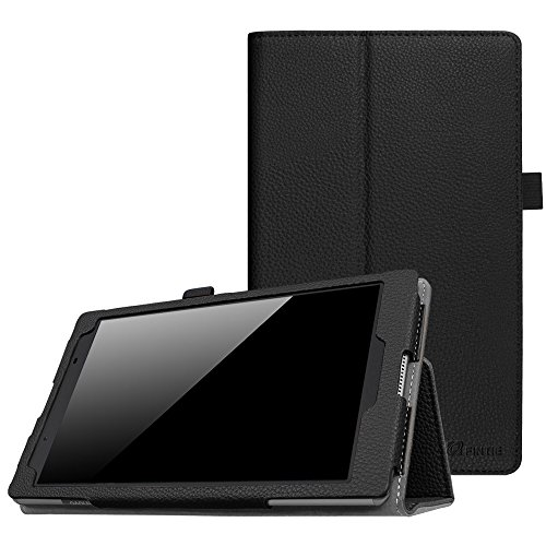 Fintie Case for Lenovo Tab 4 8 - Premium PU Leather Folio Cover with Stylus Holder for Lenovo Tab4 8-Inch Android Tablet (2017 Release), Black