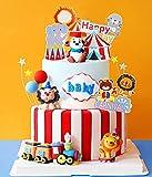 JeVenis 15 Pezzi Decorazioni per Torta di Circo Decorazioni per Torte di Compleanno per Torta di Compleanno