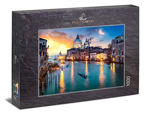 Ulmer Puzzleschmiede Venezia: Puzzle 1000 Pezzi - Tramonto sul Canal Grande a Venezia