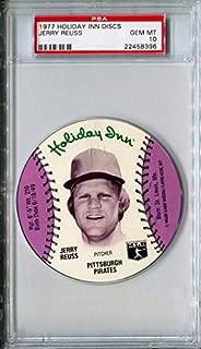 1977 MSA Holiday Inn Sports Discs JEFF BURROUGHS Rare PSA Gem Mint 10 SP Atlanta Braves / Texas Rangers