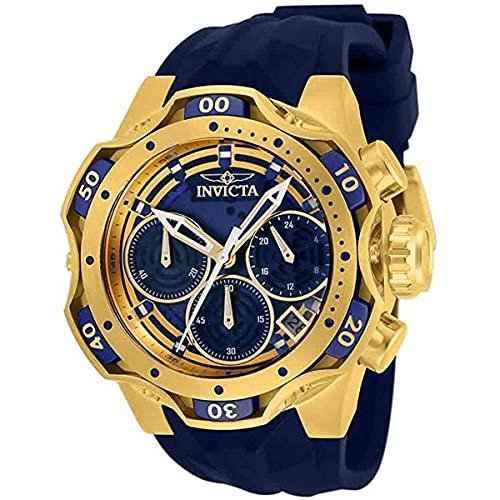 Invicta Reloj Venom cronógrafo de cuarzo con esfera azul para mujer 33643