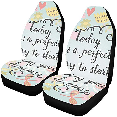 Meisje stoelhoezen vandaag Perfecte dag beginnen leven uw auto stoelhoezen beschermer voertuig auto stoel kussensloop