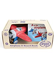 Deal on Green Toys Airplane & Board Book, Multi