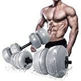 Travel Weights Water Dumbbell,Water Filled Dumbbells Set for Man & Women,Adjustable Free Water Dumbbells Up to 20~45 lbs,Home Gym Workout Equipment