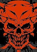 igsticker ポスター ウォールステッカー シール式ステッカー 飾り 1030×1456㎜ B0 写真 フォト 壁 インテリア おしゃれ 剥がせる wall sticker poster 011688 骸骨 ドクロ 悪魔